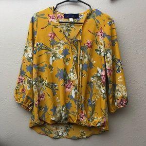 Mustard floral shirt